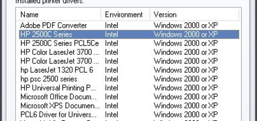 Windows Print Server Properties